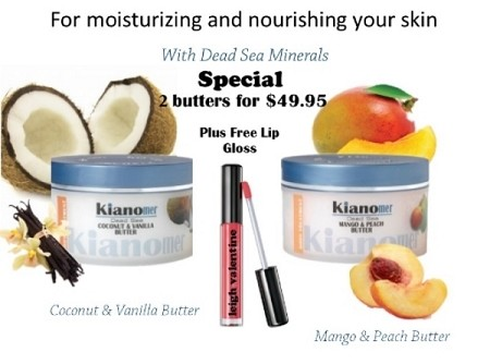 2 Butters for $49.95 plus free lip gloss